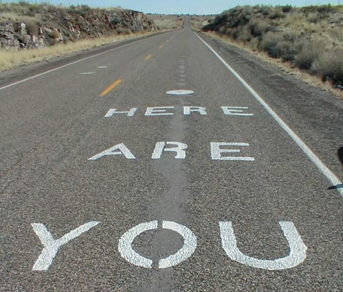 You are here Road