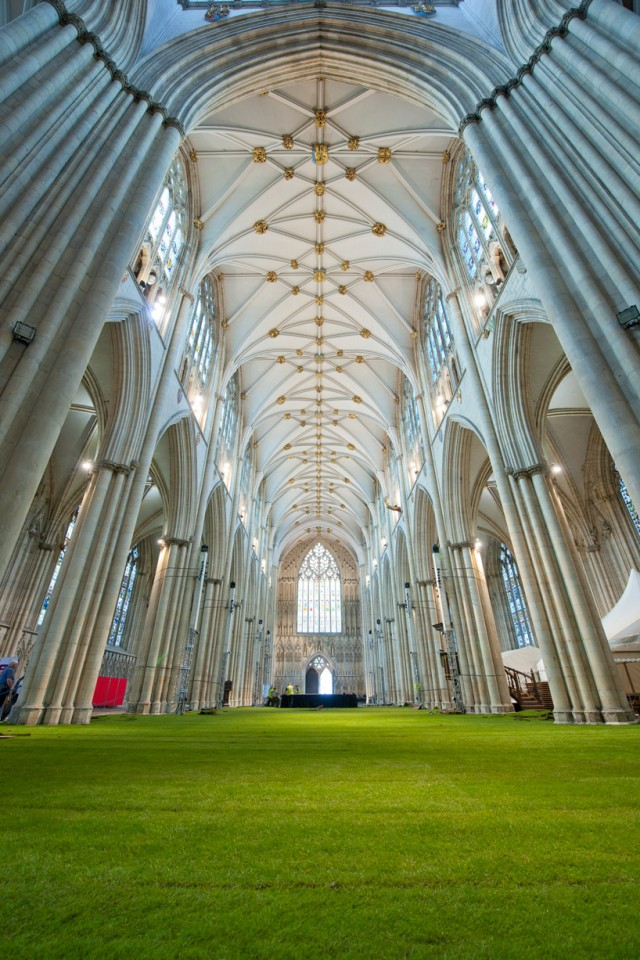 York Minster Grass inside