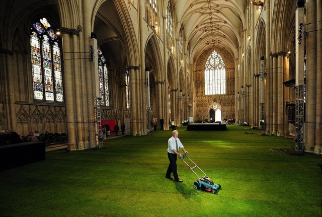 York Minster Grass cutting