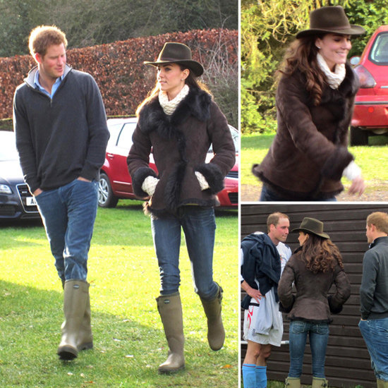 Kate Middleton wearing wellies