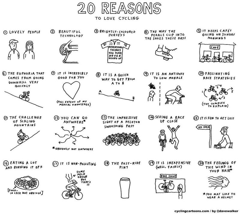 Reasons for cycling