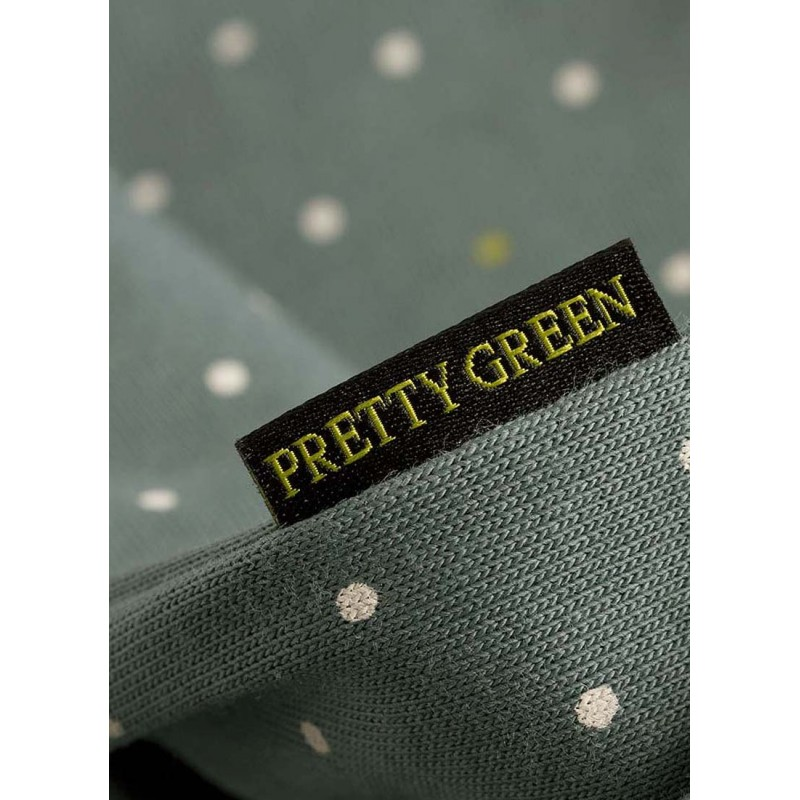 Pretty Green Polka Dot and Label