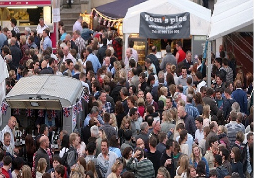 Exeter Food Festival crowd