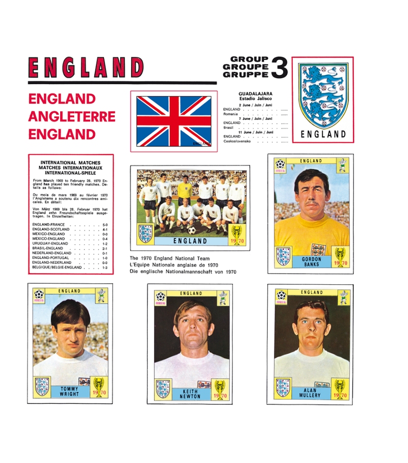 England Panini Stickers Mexico