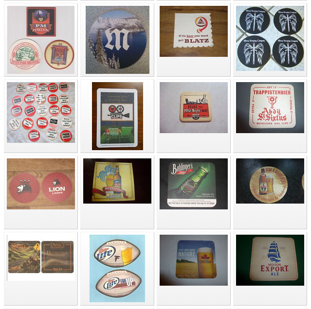 Coasters beermats shapes