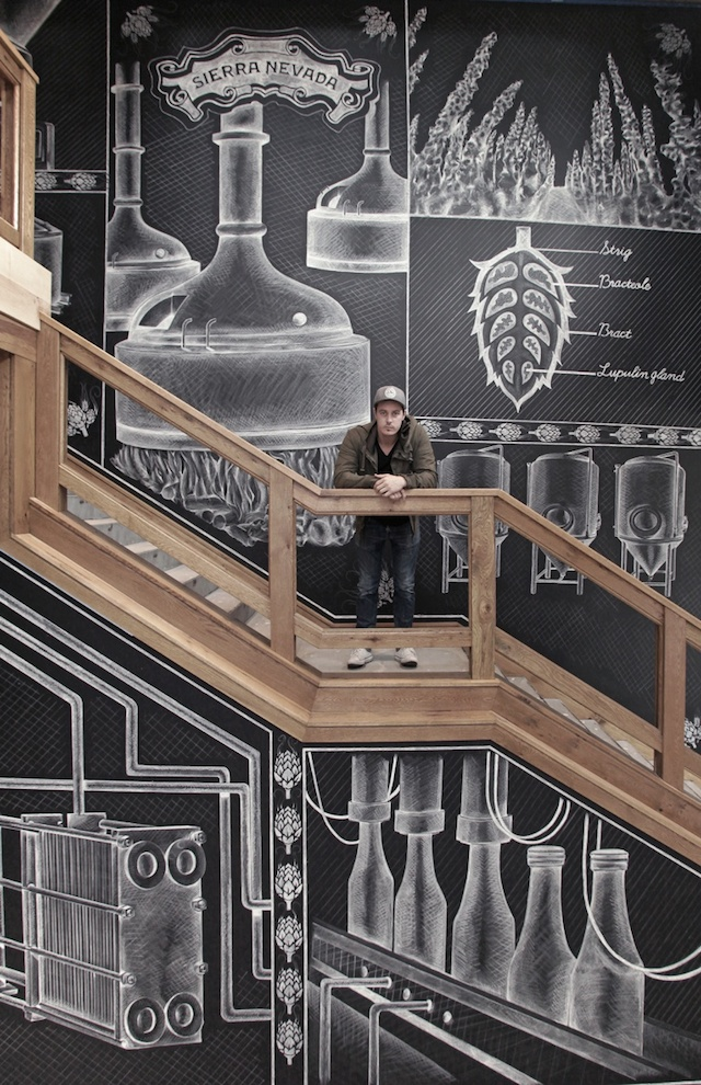 Ben Johnston mural artwork chalks