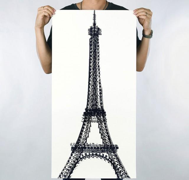 Thomas Yang Paris Eiffel Tower Bicycle illustration