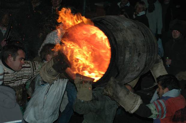 Tar Barrels Ottery St Mary Devon