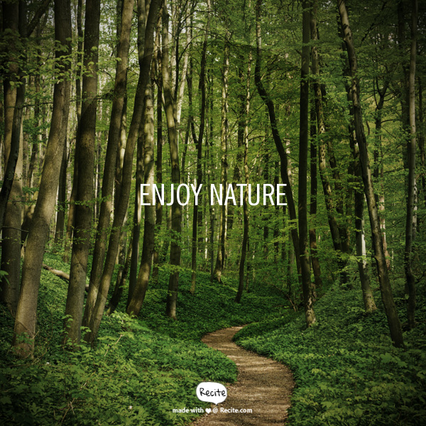 Enjoy nature