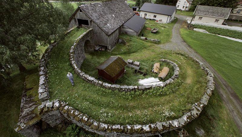 Norway farm architecture