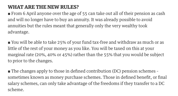 6th April 2015 - Pension rules - The Guardian