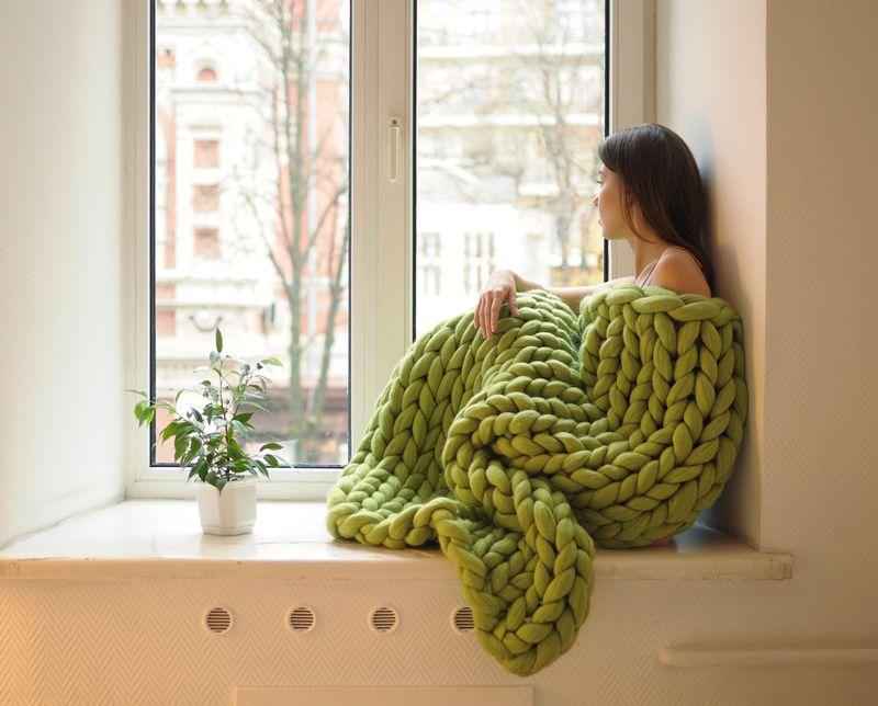 Ohhio merino wool blanket