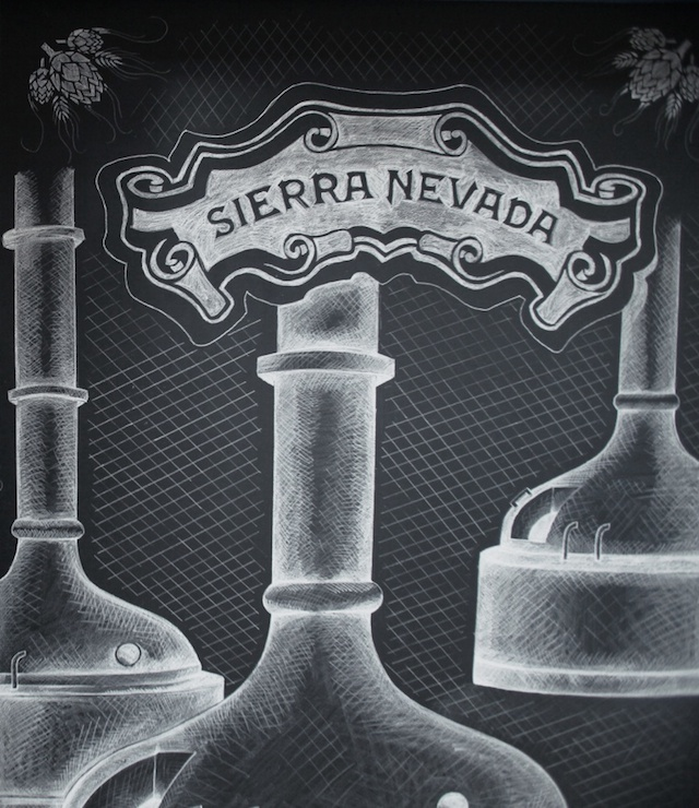 Ben Johnston Sierra Nevada chalk mural