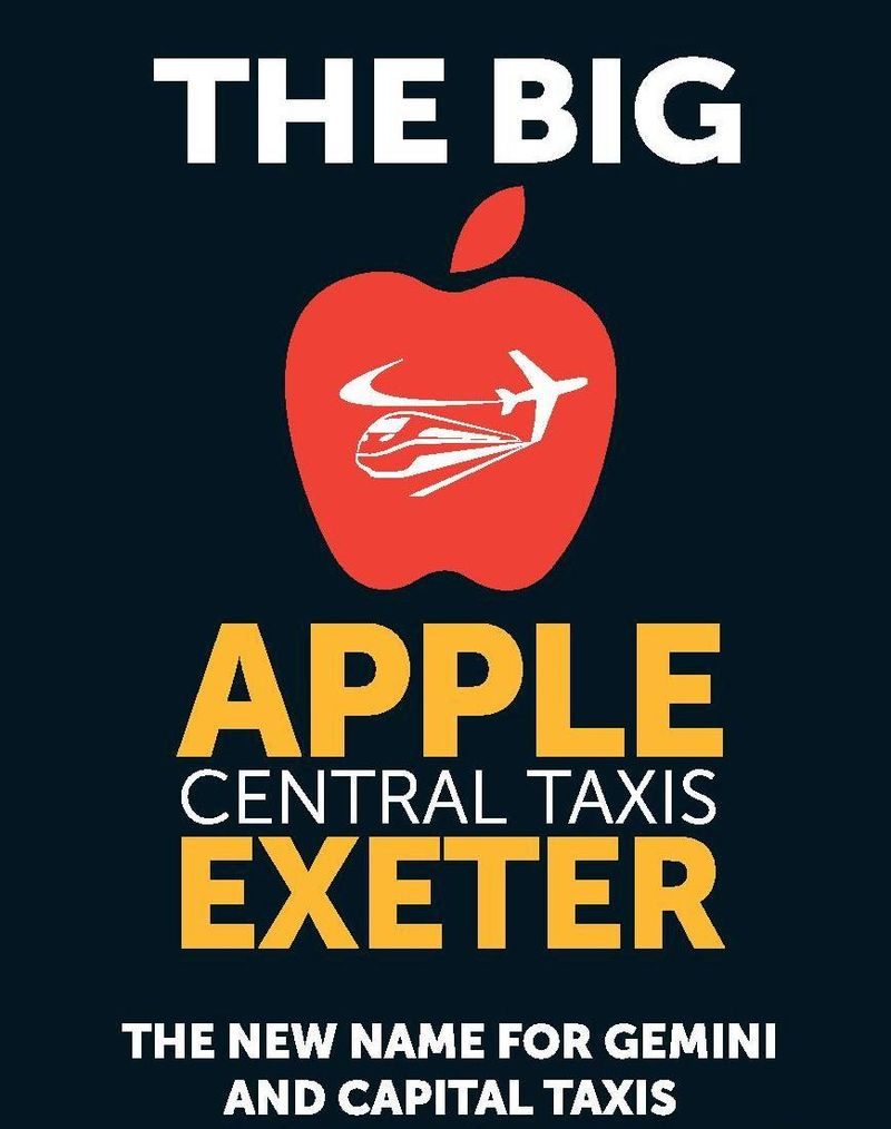 Apple taxis Exeter Logo